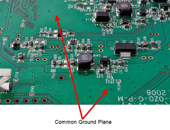 common PCB ground plane