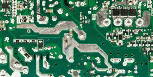 solder on PCB trace